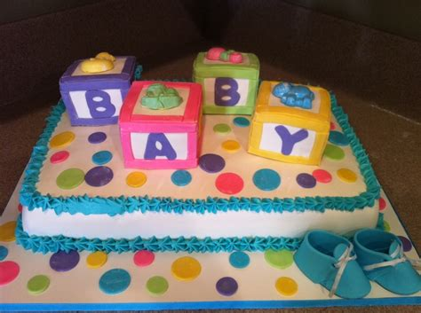 Baby Shower Cakes With Blocks by Baby Blocks Cake Cakecentral