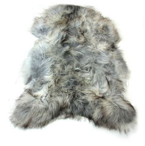 fur rug arctic sheepskin pelt rugs undyed black ultimate sheepskin