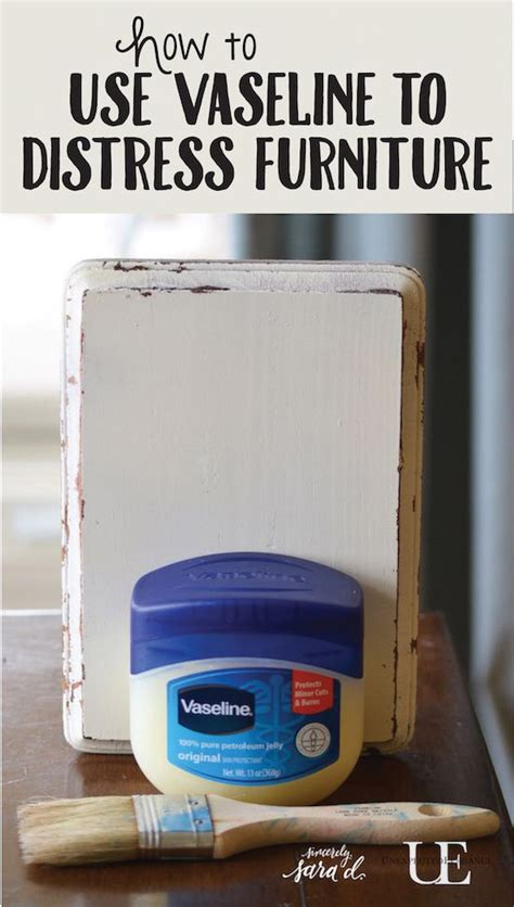 chalk paint distressing tutorial tutorial for using vaseline to distress furniture