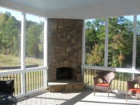 Screened Patio Designs Outdoor Screened Patio With Fireplace Designs Screened