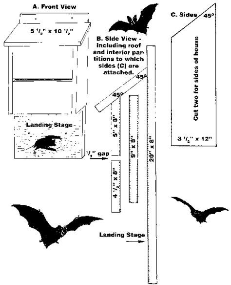 plans for a bat house bat house blueprint plans pinterest