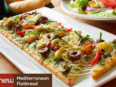 Olive Garden Flatbread by Olive Garden 6 Flatbread Lunch Combo Free4seniors