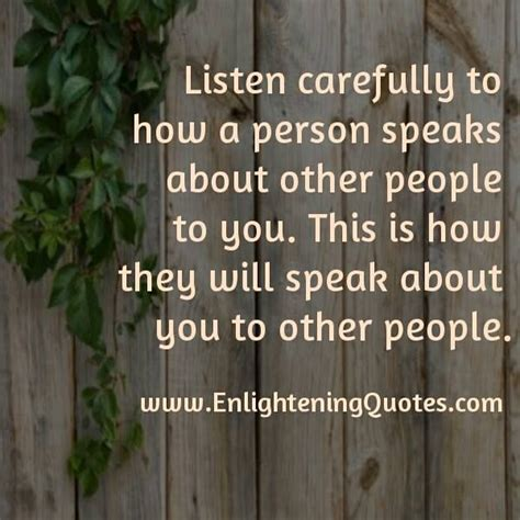 How About Some by Listen Carefully To How A Person Speaks About Other