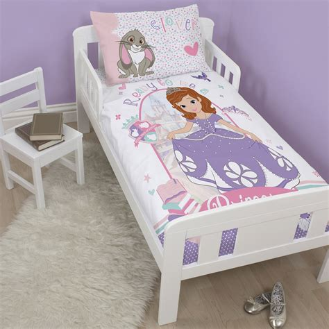 disney sofia the junior cot bed duvet cover set new