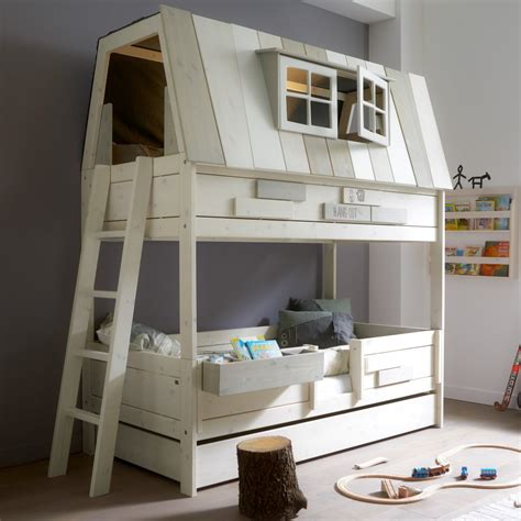 bett 90x200 bunkbed treehouse hangout bed lifetime furniture