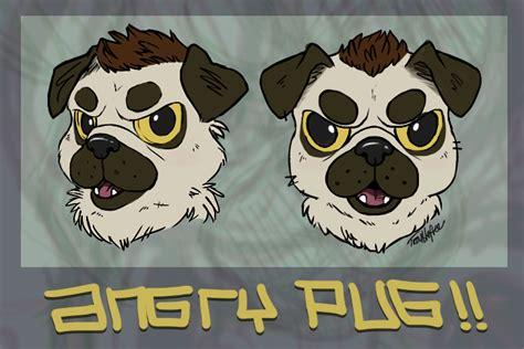 angry pugs angry pug concept weasyl