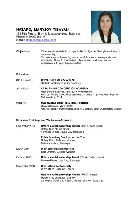 date of availability resume sle sle of personal information in resume 28 images step
