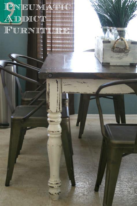 Redoing A Desk Pneumatic Addict Industrial Farmhouse Table