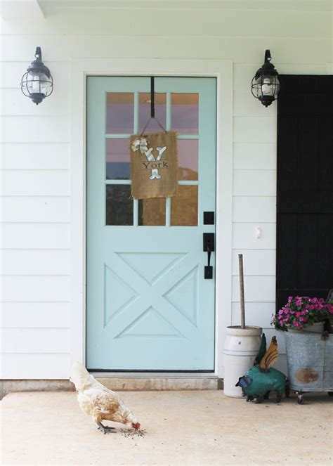 sherwin williams watery color turquoise and blue front doors with paint colors