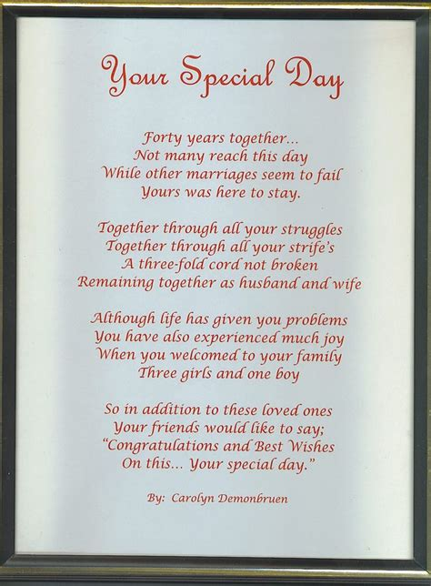 40th wedding anniversary messages for parents anniversary gifts for parents 40th wedding gallery