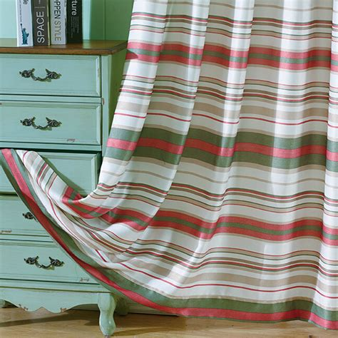 red and green striped curtains beautiful red green striped curtains polyester