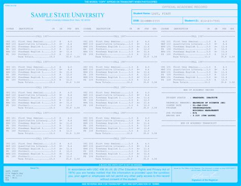 Fake College Transcripts Replica Quality Customize Your Own Buy Online College Transcript Template