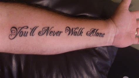 you ll never walk alone tattoo y n w a you ll never walk alone y n w a