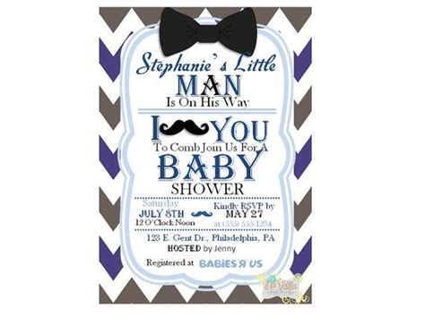 Mustache And Bow Tie Baby Shower by Mustache Bow Tie Baby Shower Invitation By Navellapartyboutique Event Baby Shower