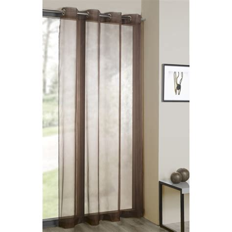 chocolate brown curtain panels chocolate brown ring top voile curtain panel tonys textiles