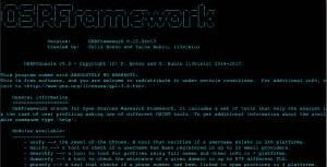 osrframework  open sources intelligence gathering