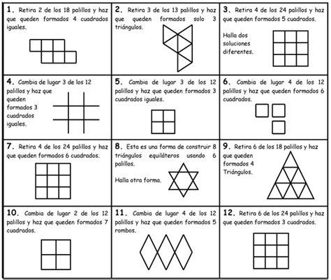 imagenes juegos matematicos secundaria geometr 237 a con palillos actiludis