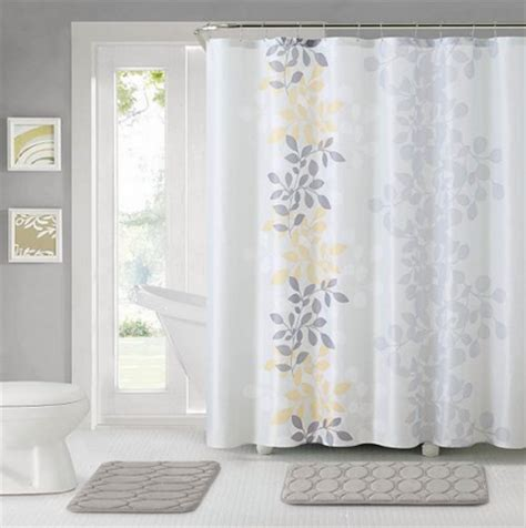 kohl s bathroom set shower curtain hooks and two rugs