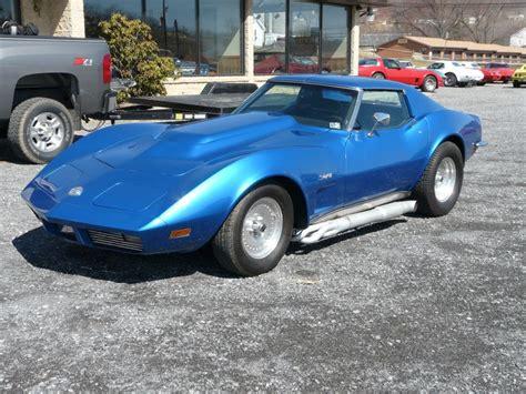 vintage corvette blue 1973 blue corvette t top stingray rod classic c3