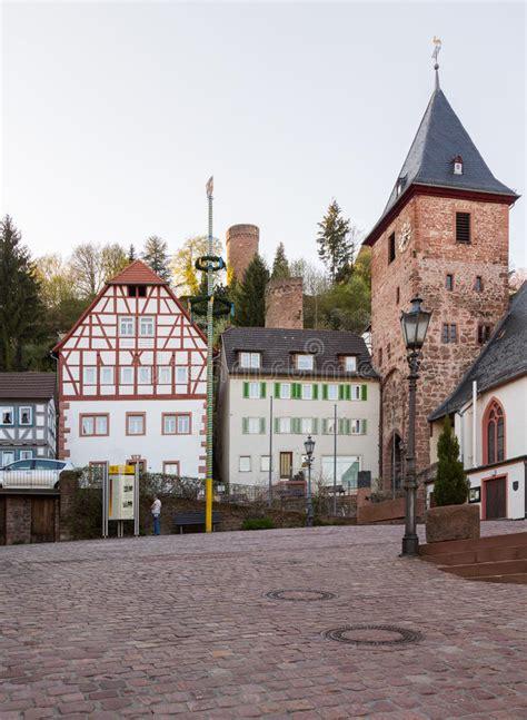 banken in hessen stadt hirschhorn hessen deutschland stockbild bild