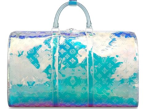 louis vuitton prism keepall monogram bandouliere  iridescent