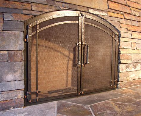 Fireplace Doors Custom by Custom Wrought Iron Fireplace Door Gallery Ponderosa