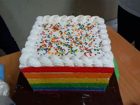 cara membuat whipped cream untuk rainbow cake resep mudah bolu kukus trio bolu kukus pelangi doovi
