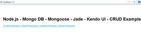 node js jade layout node exles node js mongoose express jade crud