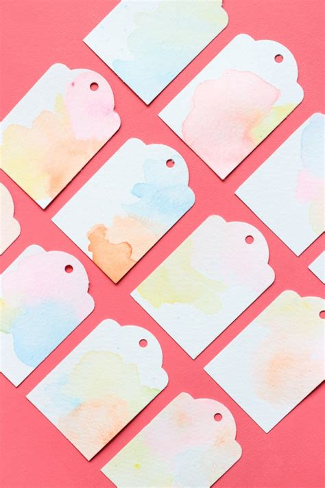 easy watercolor gift tags tutorial perfect for a beginner diy pastel watercolor gift tags the crafted life