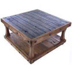 Pieces coffee tables reclaimed square coffee table item zhugo 130sq