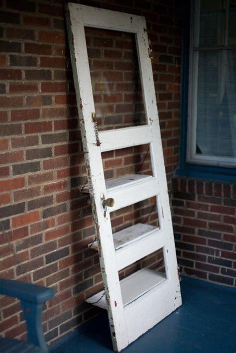 Repurposing Old Doors Pinterest Vintage Door Repurposed Bookshelf A Door By