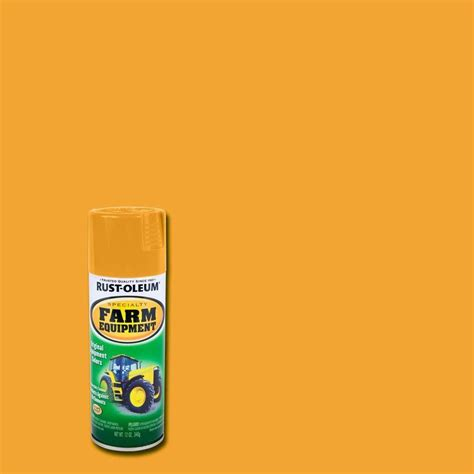 home depot paint yellow rust oleum specialty 12 oz yellow farm equipment