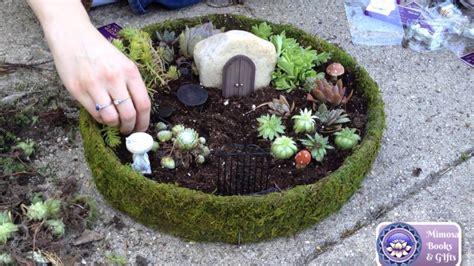 miniature fairy garden step  step youtube