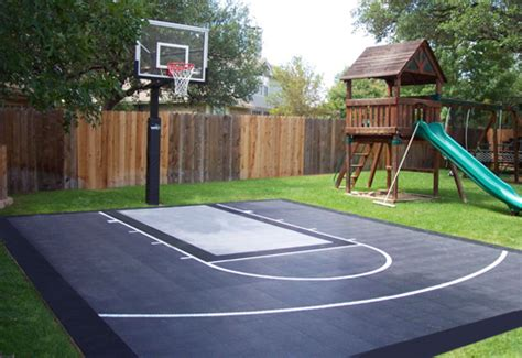 diy home game courts monthly specials backyard