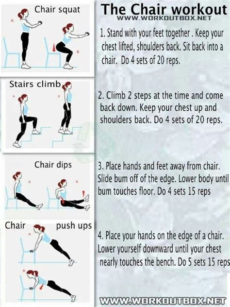 chair workout health and exercise