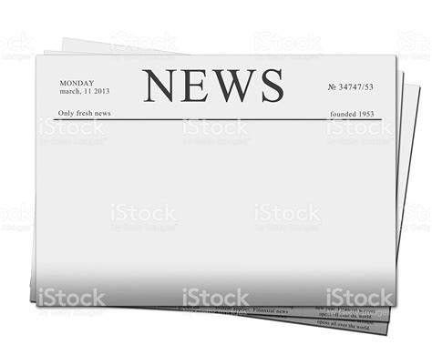 newspaper headline template blank newspaper headline template stock photo 177766582