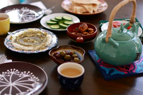 White Table Top How To Eat Breakfast Arabic Style Wandering Spice