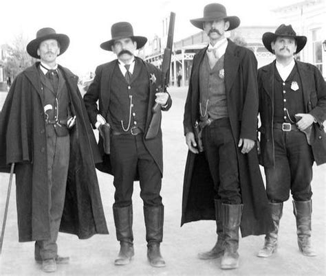 the earps and doc holliday from left to right doc