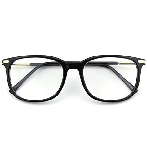 Happy Glasses Brown happy store cn79 high fashion metal temple horn rimmed