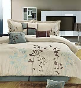 clearance 8pc luxury bedding set addison ivory blue