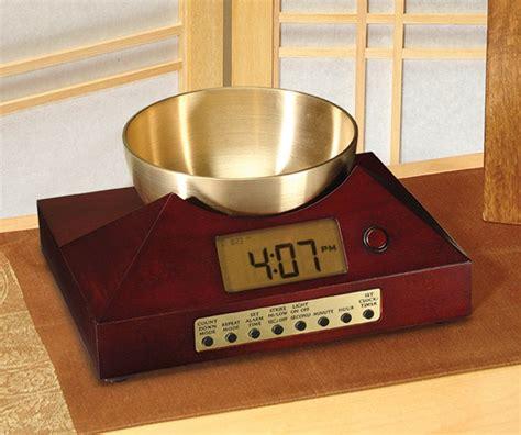 unique alarm clock  brass singing bowl alarm clock  zen blog