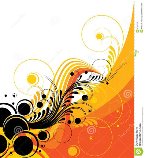 retro abstract design stock vector illustration of curves