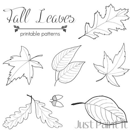 printable fall leaf shapes fall leaf pattern printables just paint it blog