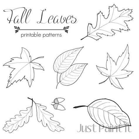 Leaf Pattern For Kindergarten | fall leaf pattern printables fall leaves craft paint