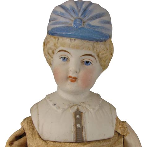 parian doll head 15 inch hertwig parian bisque bonnet doll from virtu