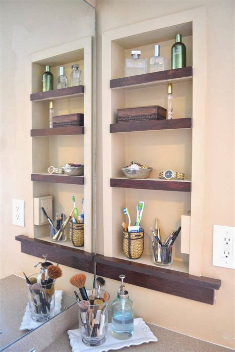 built in shelves and cabinets 25 best built in bathroom shelf and storage ideas for 2018