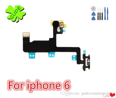 Flexibel On Proxymity Flash Iphone 6 6g for iphone 6 6g power button switch flex cable 6s plus on ribbon mic microphone flash flat