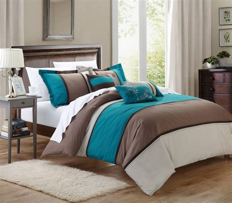 Teal Size Comforter by Chic Home Ballroom 11 Comforter Set King Size Teal