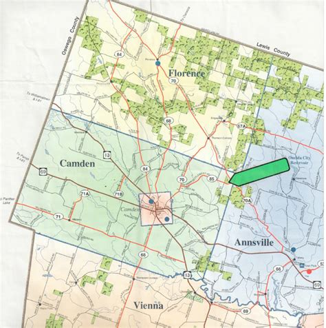 tug maps land in camden ny in the tug hill region ny landquest