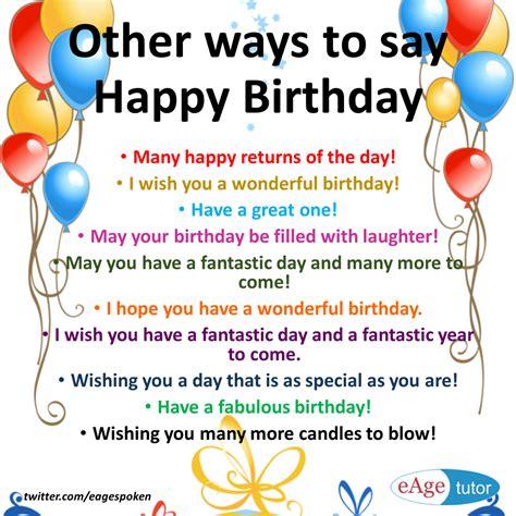 Ways Wishing Happy Birthday Forum Learn English Fluent Land